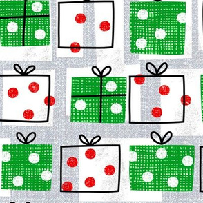 dotty boxes-Christmas presents