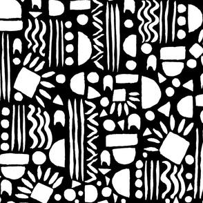 Geometric gouache Black and White