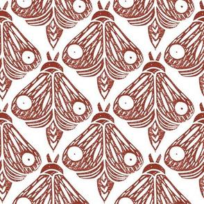 Linocut Butterflies brown