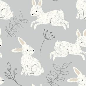 bunny hop in gray