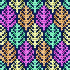08204886 : knitted tropical leaves