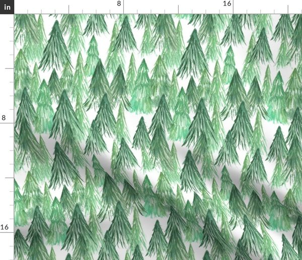 watercolor pine tree forest spoonflower spoonflower