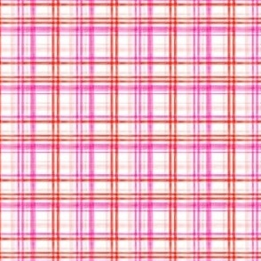 (micro scale) valentines watercolor plaid C18BS
