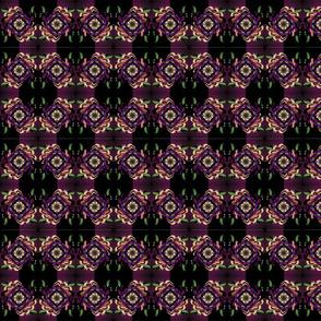 Black and Purple Floral Print