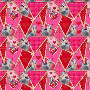 Crazy Ladies Quilt - Valentine Yorkie