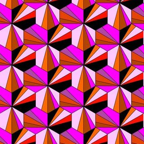 Hexagon tiles - pink