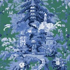 Chinoiserie Palace ~ Custom Blue and Green