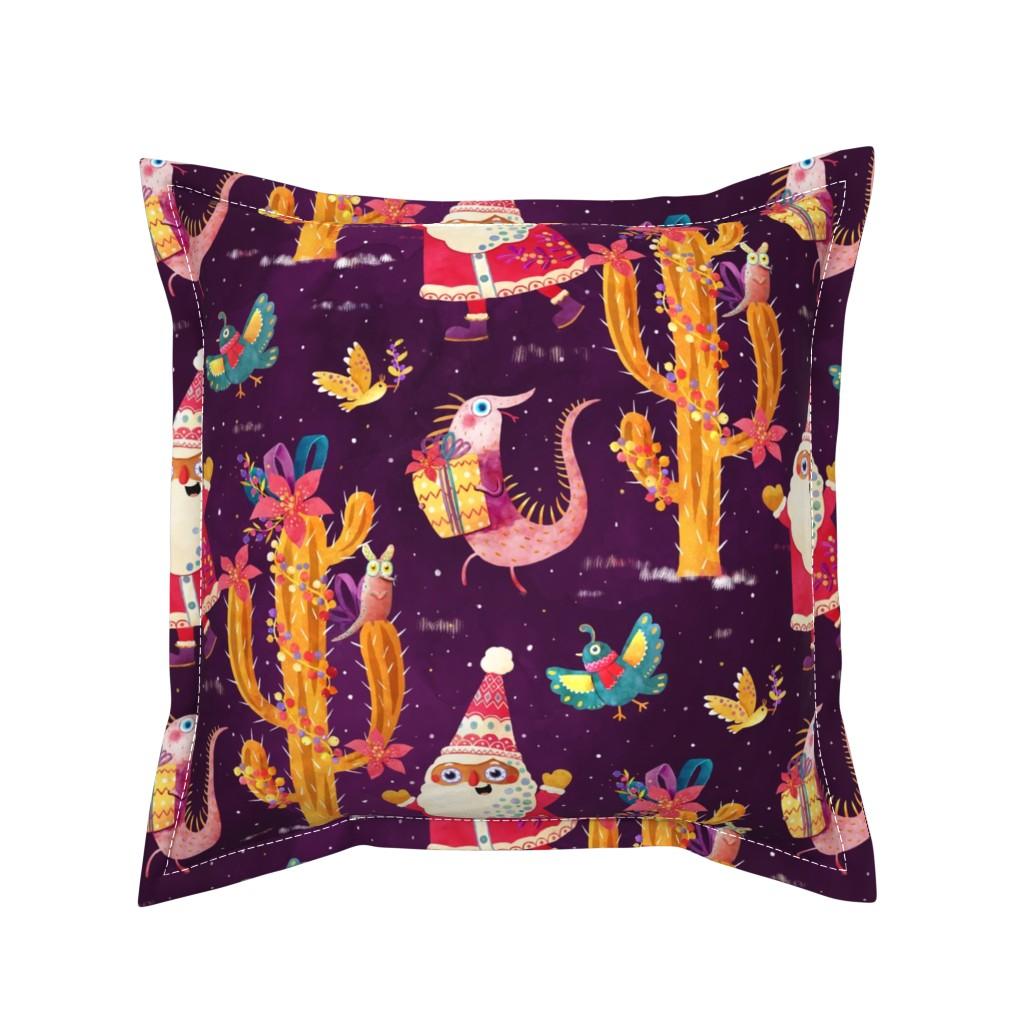 Serama Throw Pillow featuring Our Mexican Christmas by monika_suska