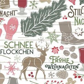 German Christmas Traditions // Frohe Weihnachten! // Christmas Trees, Carols, Greetings, Gluehwein, Mittens, Bells, Gingerbread, Lebkuchen, Ice Skates © Zirkus Design