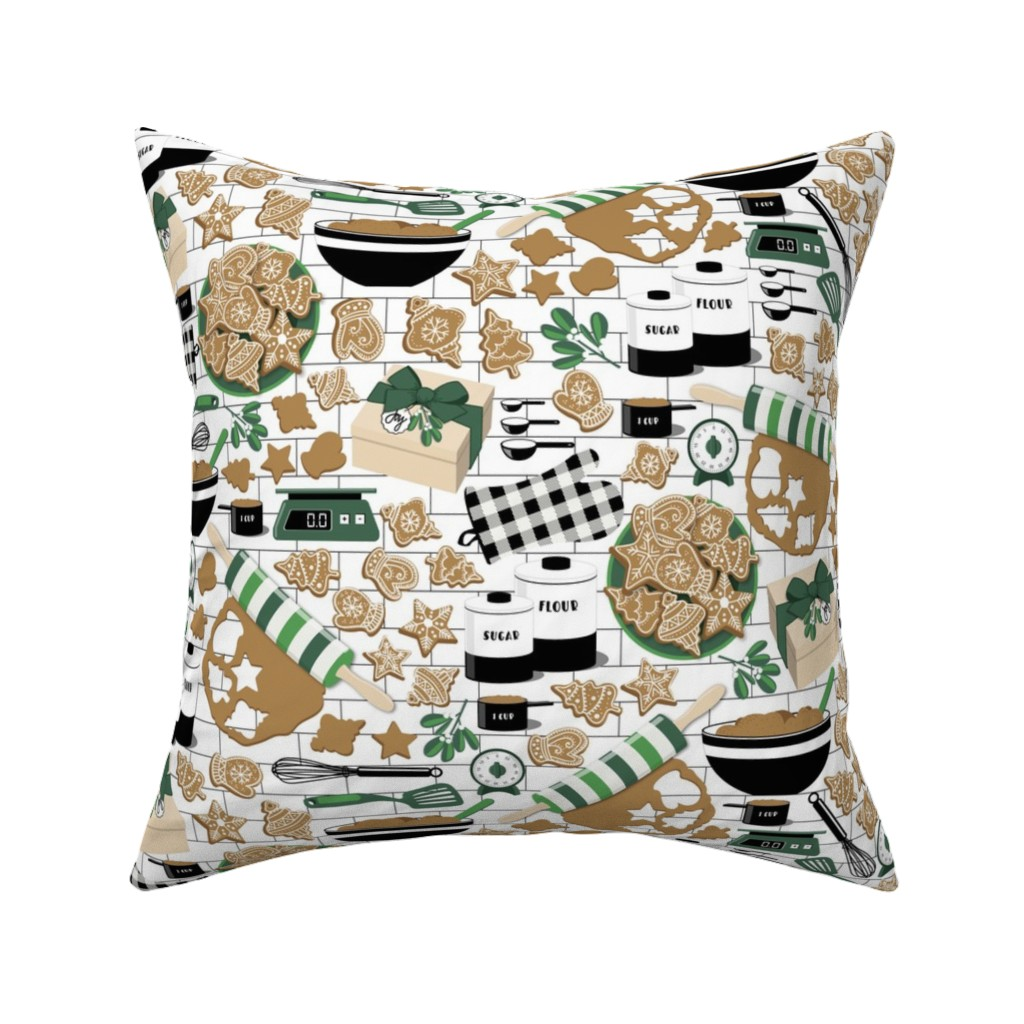 Catalan Throw Pillow featuring Making, Baking, and Decorating by nanshizzle