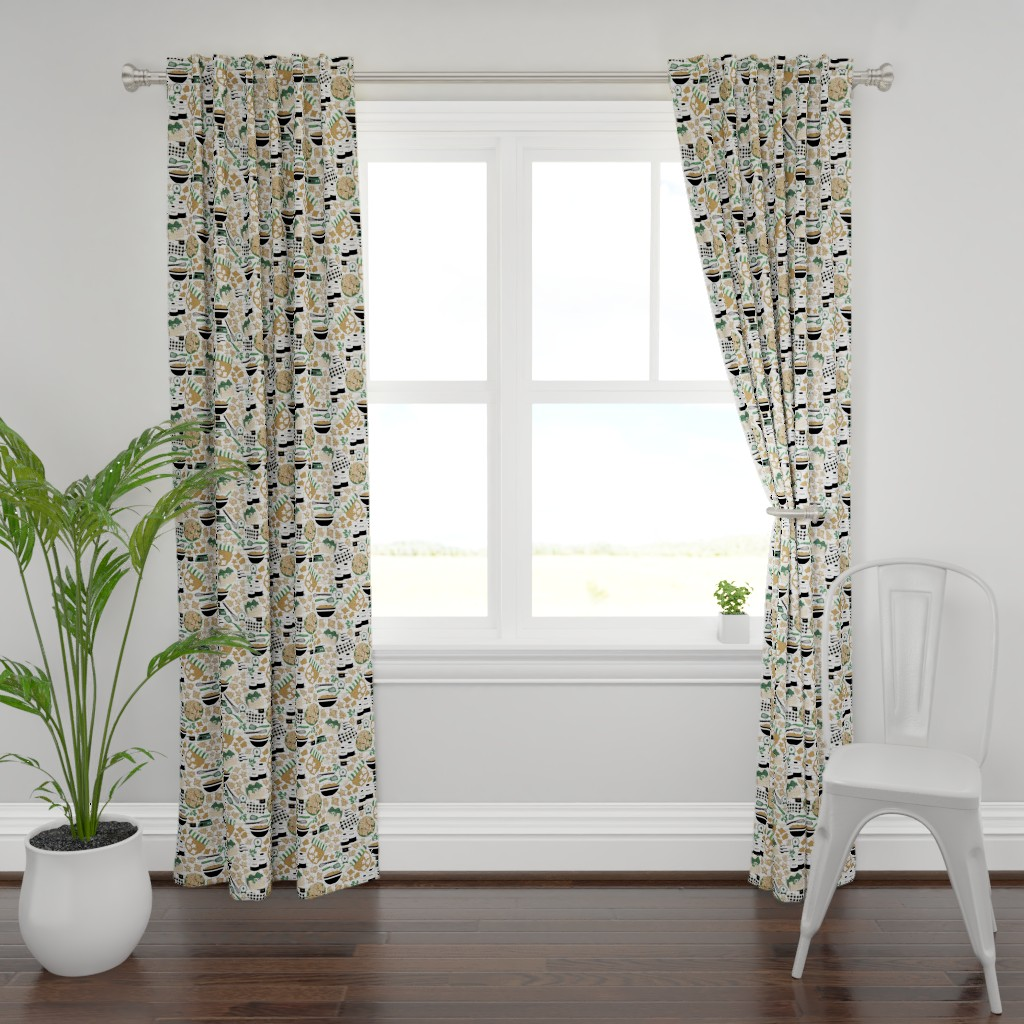Plymouth Curtain Panel featuring Making, Baking, and Decorating by nanshizzle