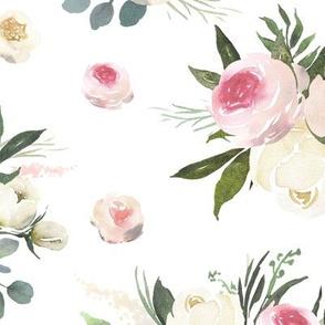 "18"" Rustic Love Florals // White"