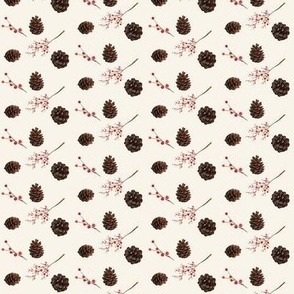 Small realistic Pinecones