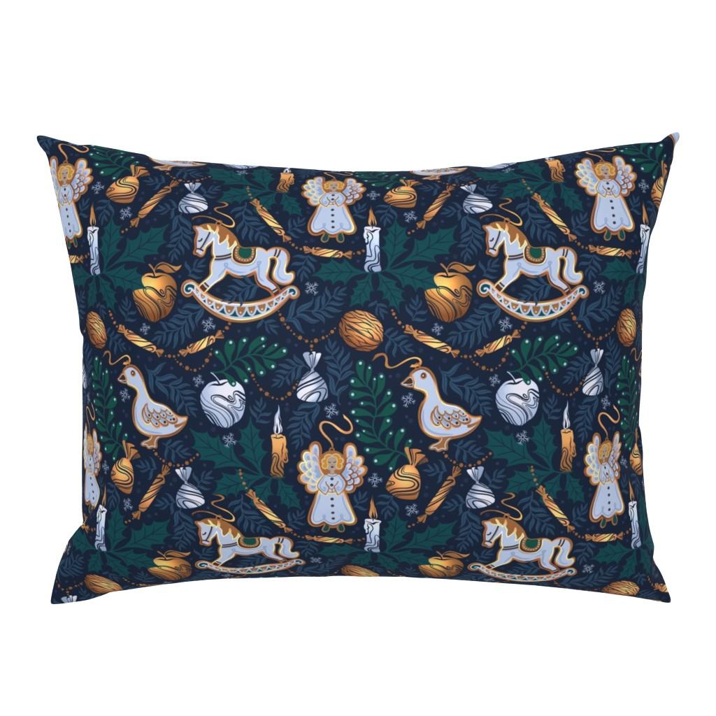 Campine Pillow Sham featuring fairy winter night by torysevas