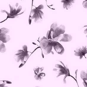 Blush pink magnolia || watercolor floral pattern