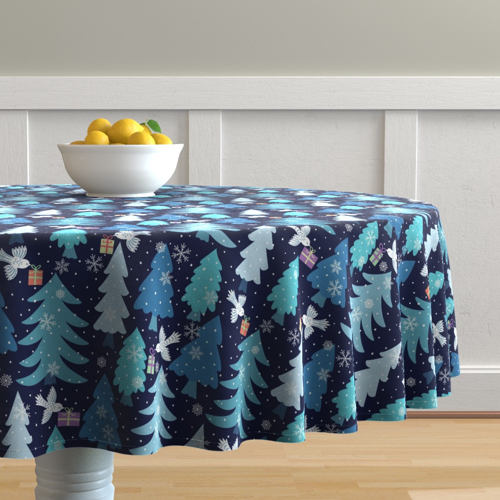 Malay Round Tablecloth featuring Special-Delivery by jennifer_holbrook