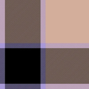 "medieval piper tartan - 8"" peach, black and lavender"