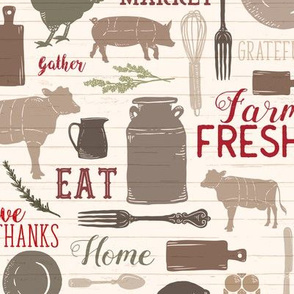 Sing for Your Supper RED // Gather Round & Give Thanks - Horizontal // ZirkusDesign
