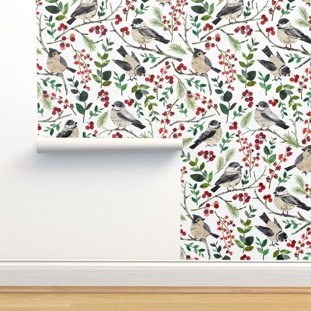 Isobar Durable Wallpaper featuring World Map Birds - Large by sarah_treu