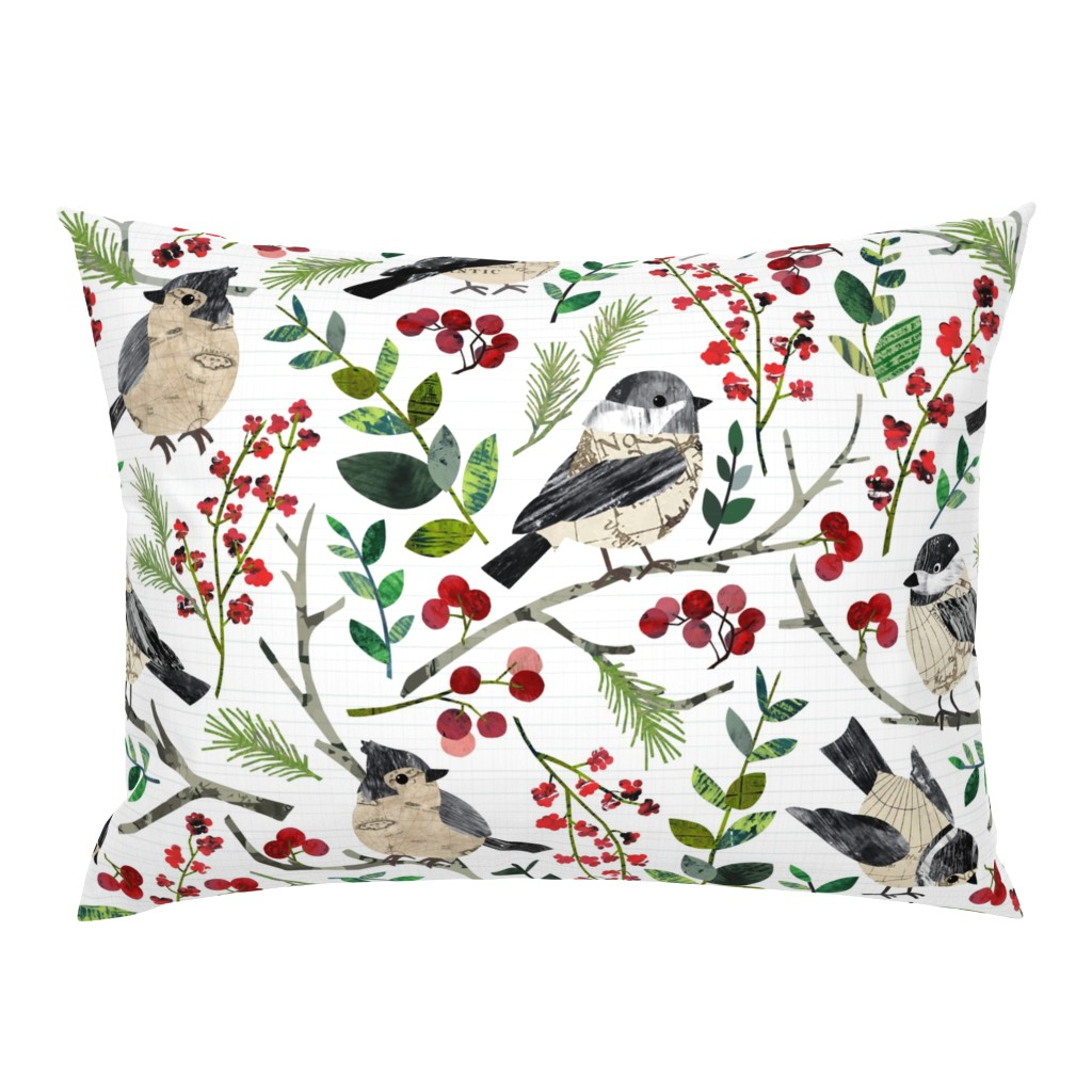 Campine Pillow Sham featuring World Map Birds - Large by sarah_treu