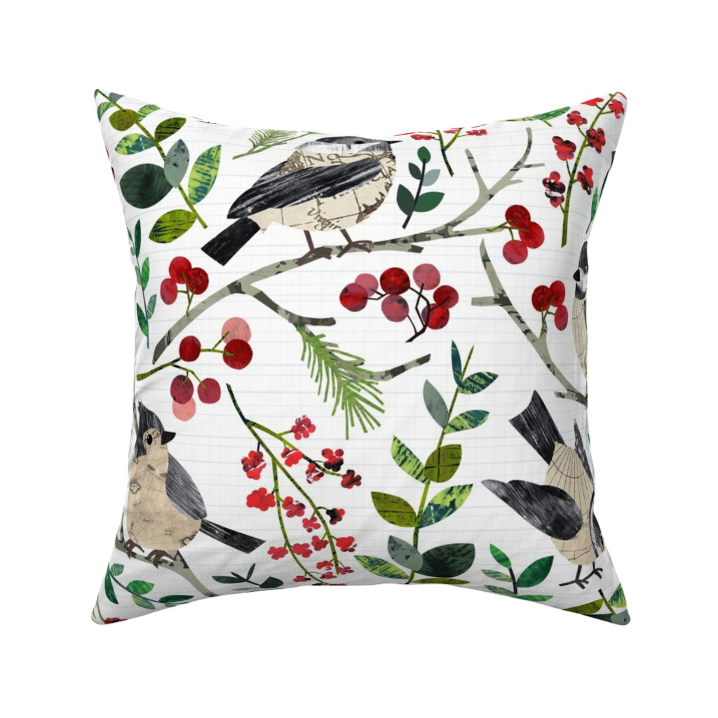 Catalan Throw Pillow featuring World Map Birds - Large by sarah_treu