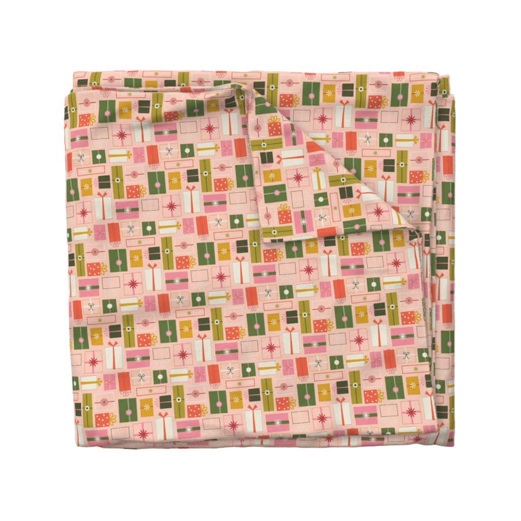 Wyandotte Duvet Cover featuring Wrapping Presents by katerhees
