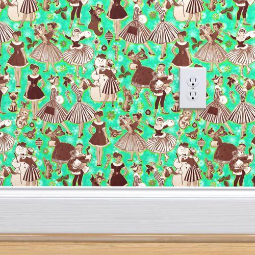 christmas pin up wallpaper