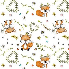 The Happy Fox 1 (white)