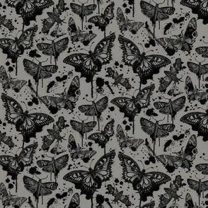 Haunted Splatter Drip Moths Grey