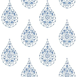 TEARDROP BLUE PAISLEY