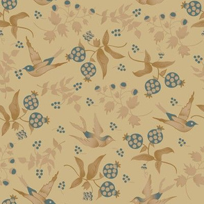 Porch Perfect birds beige and teal 2020-12