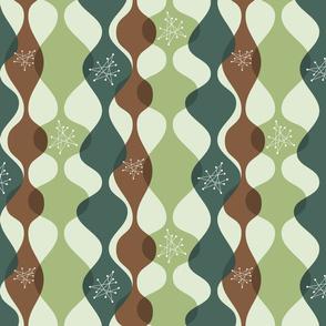 Mid century modern baubles green