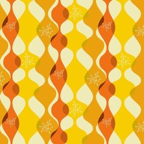 Mid century modern baubles orange