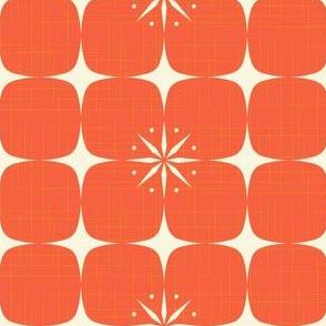 Atomic starburst grid red