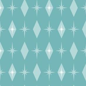 Atomic starburst diamond -blue