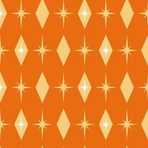 Atomic starburst diamond -orange