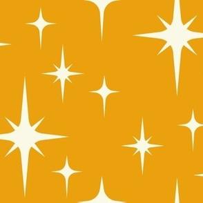 Mid century modern atomic yellow