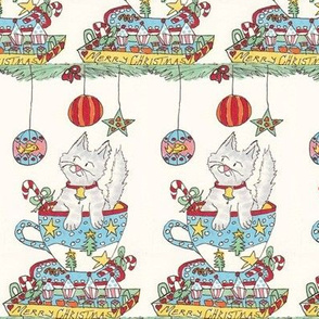 Christmas Cat: Cakes and Tea