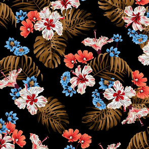 North Shore Floral - Black