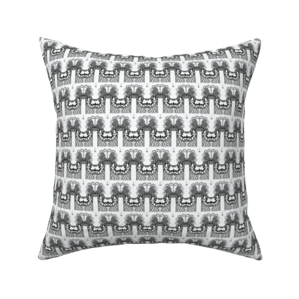 Catalan Throw Pillow featuring Whimsy Palisade Stripes by maryyx