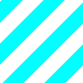 Cyan Fresh White Color Large Simple Stripe Gift Present Candy Paper Pattern