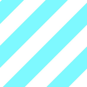 Electric Blue Fresh White Color Large Simple Stripe Gift Present Candy Paper Pattern