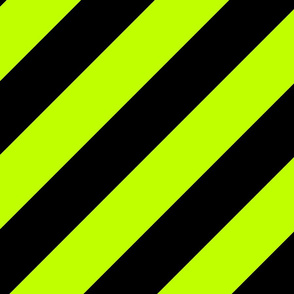 Lime Green Black Color Large Simple Stripe Gift Present Candy Paper Pattern