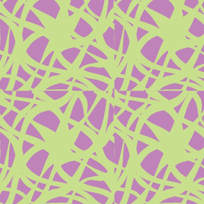 Crossed Waves-Yellow-Grn/Violet-ch-ch