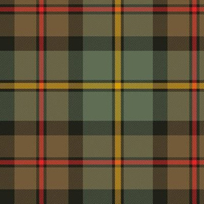 "MacLeod of Harris / green MacLeod / MacLeod hunting tartan, 6"" weathered colors"