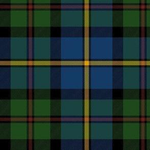 "MacLeod of Harris / green MacLeod / MacLeod hunting tartan, 6"" dark colors"