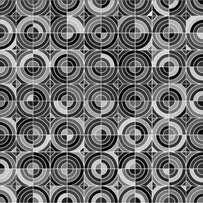 Charm Circles - Black and White