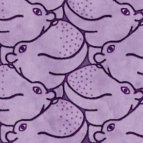 Heads Up Hippos! - purple