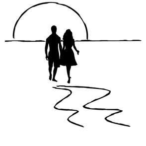 Sunset Couple 2 yd print