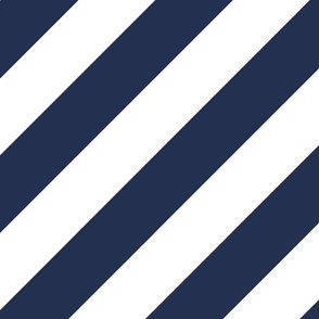 Navy White Color Large Simple Stripe Gift Present Candy Paper Pattern